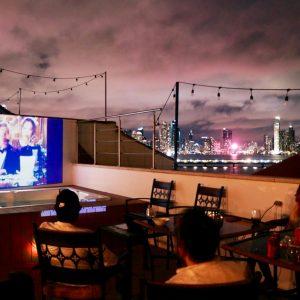 Thursdays Movie Night on the roof terrace